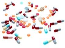 spridda isolerade pills Arkivbilder