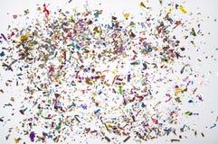 Spridda konfettier royaltyfri bild