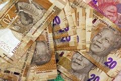 Spridda tjugo Rand South African Bank Notes Royaltyfri Fotografi