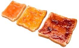 Spridning och rostat bröd IX för blandningfruktdriftstopp Arkivfoton