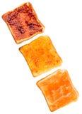 Spridning och rostat bröd VI för blandningfruktdriftstopp Royaltyfri Foto