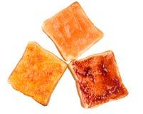 Spridning och rostat bröd X för blandningfruktdriftstopp Royaltyfria Bilder