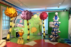 Spriengfield massachusetts usa dr seuss museum. The Amazing World of Dr .Seuss Museum is one of the great attraction for visitors of Springfield , Massachusetts royalty free stock photos