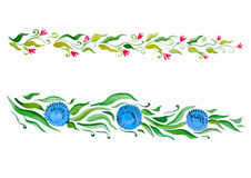 Sprig красивого чертежа декоративный флористический Стоковое фото RF