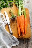 Sprig carrots Stock Photo