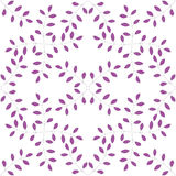 Sprig with leafs seamless pattern Stock Photo