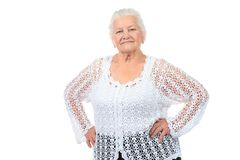 Sprightly old lady Stock Image