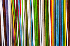 Sprigs colorful buckets. Background vertical stripes. Royalty Free Stock Images