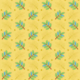 Sprigs doodle pattern Royalty Free Stock Photos