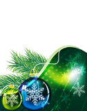 Sprigs of fir and  Christmas balls Royalty Free Stock Image