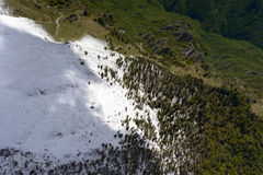 Sprimg snow on Arera slopes, Orobie, italy Royalty Free Stock Photo
