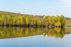 Spring湖 池塘春天 库存照片