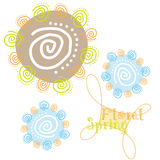 Spring. Simple abstract Spring background, vector  illustration Royalty Free Stock Photos