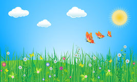 Spring. Vector illustration, all ellements are editable Royalty Free Stock Image