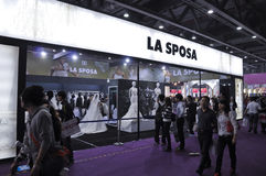 Spring 2011 China (Guangzhou) Wedding Expo. Spanish brand La Sposaexhibition space in Spring 2011 China (Guangzhou) Wedding Expo,show time from March 12 to 13 Stock Photo