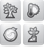 Spring. Four concept icons: spring, from left to right, top to bottom Royalty Free Stock Photography