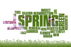 Spring. Season poster concept Royalty Free Stock Photography