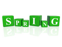 Spring in 3d cubes Stock Images