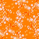 Spring. Vector illustration - Seamless vector wallpaper Stock Photography