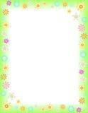 Spring. Floral background on Letter paper format, vector Stock Images