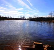 Spring湖 库存照片