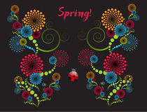 Spring Abstract. An abstract illustration of colorful spring swirls Stock Photos