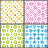 Spring abstract floral vector seamless patterns Stock Images