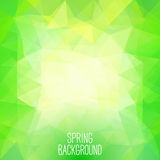 Spring abstract polygonal background. Can be used for wallpaper, Stock Photography