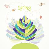 Spring abstract tree Stock Image