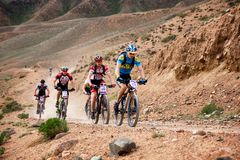 Spring adventure mountain bike competition Royalty Free Stock Photos