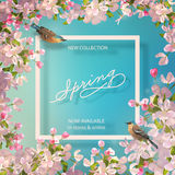 Spring Advertising Banner Royalty Free Stock Photography