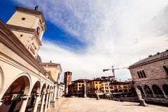 Spring afternoon in the city of Udine. The beautiful city of Udine in a spring afternoon royalty free stock photo