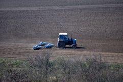 Spring agricultural landscape Stock Images