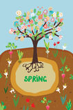 Spring agriculture banner for the garden Royalty Free Stock Photo