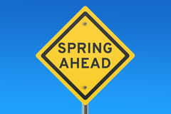 Spring Ahead road sign Royalty Free Stock Photography