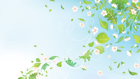 Spring in the air. Spring background for your design with  place for your text in the sky Stock Photo