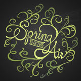 Spring air - Floristic circle Royalty Free Stock Photos