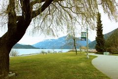 Spring is in the Air at Harrison Hot Springs royalty free stock image