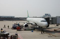 Spring Airlines plane Royalty Free Stock Photography