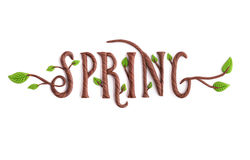 Spring. All Objects are handmade.  on white background Stock Photo