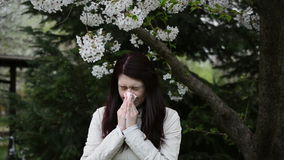 Spring allergy- video with sound Stock Photos