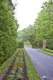 Spring alley. With with beds of flowers in Longwood Gardens PA NJ Stock Photos