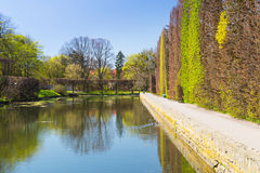 Spring alley in the park of Gdansk Oliwa Stock Images