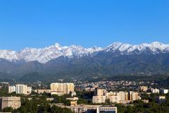Spring in Almaty Royalty Free Stock Photo