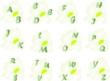 Spring alphabet Stock Images