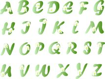Spring alphabet Royalty Free Stock Images