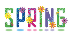Spring alphabet mini set Stock Photography