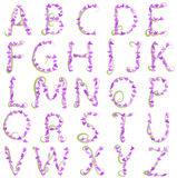 Spring alphabet vector Stock Photos
