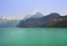 Spring Alpine Lake stock photos
