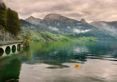 Spring Alps, Switzerland. Swiss Alps, on begin of spring. Grindelwald Royalty Free Stock Images